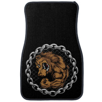 The fighting bear car mat