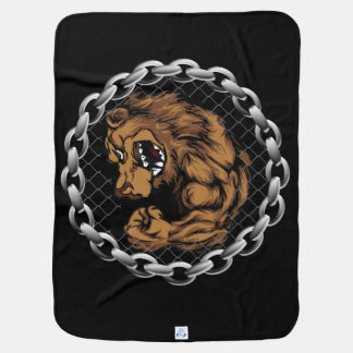 The fighting bear swaddle blanket