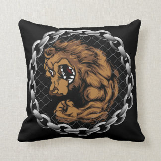 The fighting bear throw pillow
