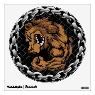 The fighting bear wall sticker