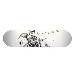 The Fighting Fish Skate Deck