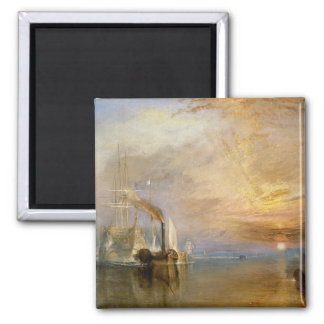 The Fighting Temeraire, 1839 2 Inch Square Magnet