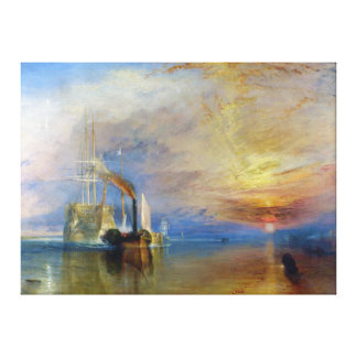 The Fighting Temeraire by J M W Turner Gallery Wrapped Canvas