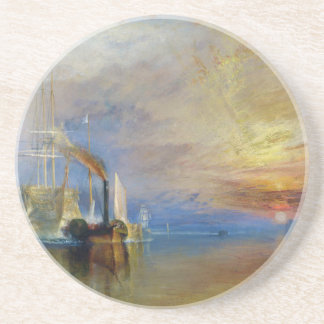 The Fighting Temeraire by J. M. W. Turner Drink Coaster