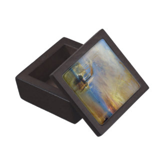 The Fighting Temeraire by J. M. W. Turner Premium Trinket Boxes