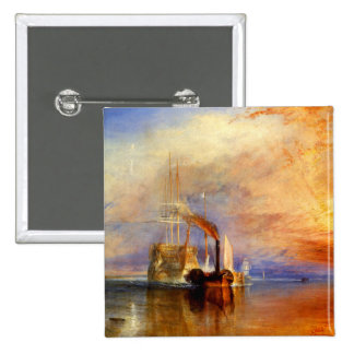 The Fighting Temeraire, J. M. W. Turner Pinback Button