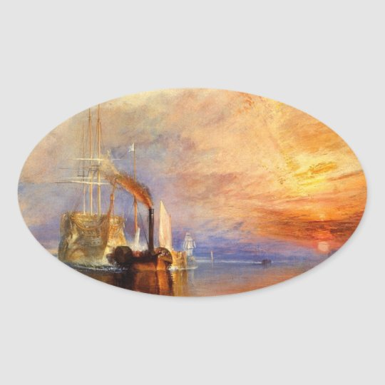 The Fighting Temeraire Oval Sticker