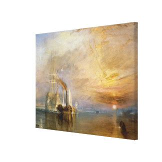 """The """"Fighting Temeraire"""" Tugged Canvas Print"""