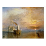 """The """"Fighting Temeraire"""" Tugged Postcard"""