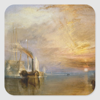 """The """"Fighting Temeraire"""" Tugged Square Sticker"""