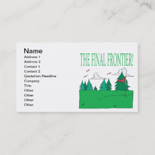 Frontier business cards templates zazzle the final frontier business card colourmoves