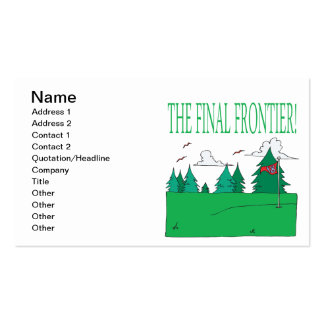 The Final Frontier Double-Sided Standard Business Cards (Pack Of 100)