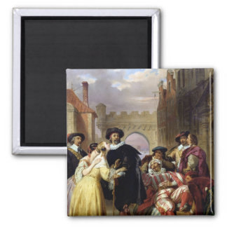 The Final Scene of 'Les Fourberies de Scapin' 2 Inch Square Magnet