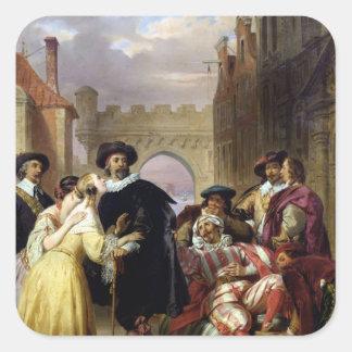 The Final Scene of 'Les Fourberies de Scapin' Square Sticker