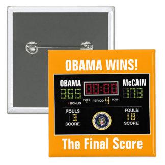 The Final Score - Customized Pinback Button
