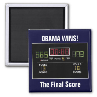 The Final Score 2 Inch Square Magnet