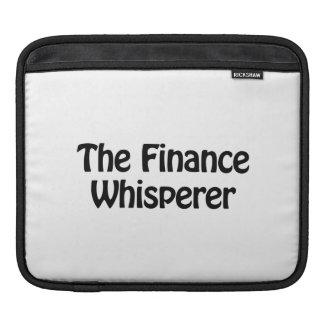 the finance whisperer iPad sleeves