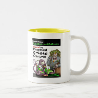 The Financial Crisis Creatures Two-Tone Coffee Mug