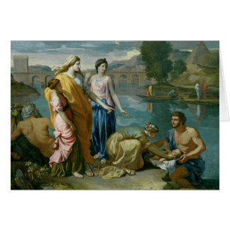 The Finding of Moses, 1638 Card