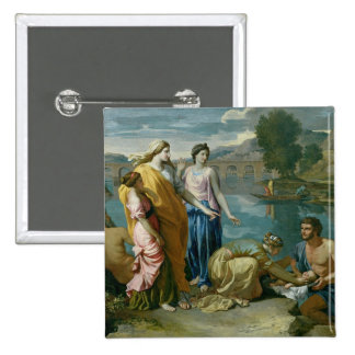 The Finding of Moses, 1638 Pinback Button