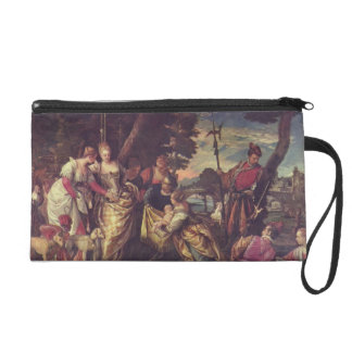 The Finding of Moses by Paolo Veronese Wristlet Clutch