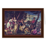The Finding Of Moses By Veronese Paolo Card