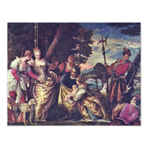 The Finding Of Moses By Veronese Paolo Custom Announcements