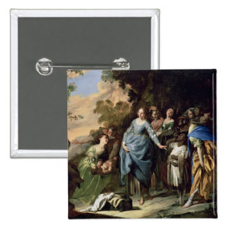 The Finding of Moses, c.1650-56 (oil on canvas) Pinback Button