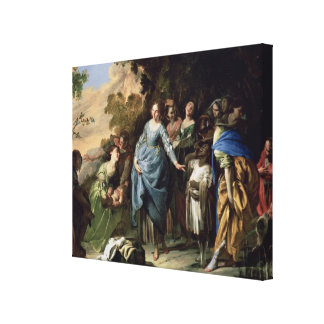 The Finding of Moses, c.1650-56 (oil on canvas) Canvas Print