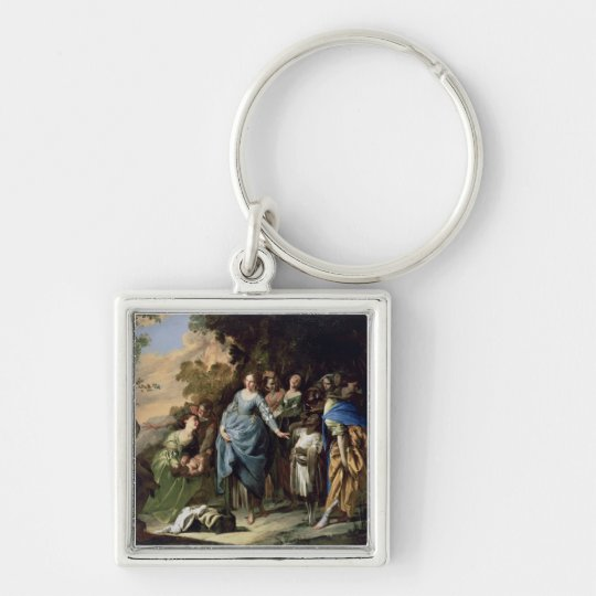 The Finding of Moses, c.1650-56 (oil on canvas) Keychain