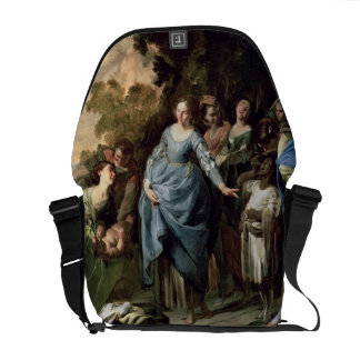 The Finding of Moses, c.1650-56 (oil on canvas) Courier Bag