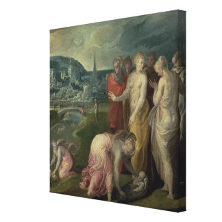 The Finding of Moses (oil on canvas) Canvas Print
