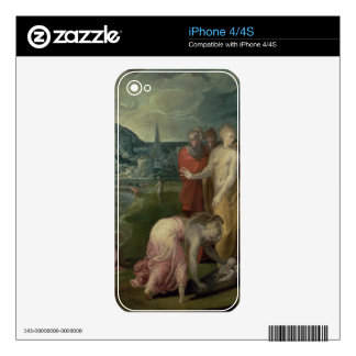 The Finding of Moses (oil on canvas) iPhone 4 Decals