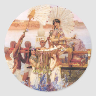 The Finding of Moses, Sir Lawrence Alma-Tadema Classic Round Sticker