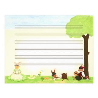 The Fine Day Music Manuscript Paper Letterhead