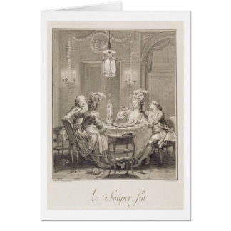 The Fine Supper, 1781, engraved by I.S. Helman (17 Card