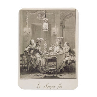 The Fine Supper, 1781, engraved by I.S. Helman (17 Magnet