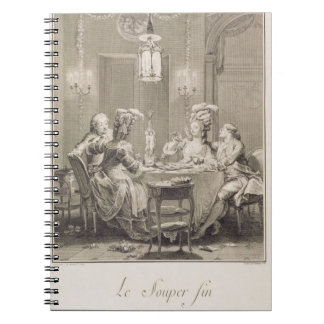The Fine Supper, 1781, engraved by I.S. Helman (17 Notebook