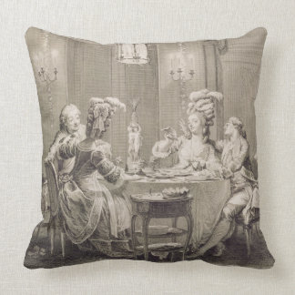 The Fine Supper, 1781, engraved by I.S. Helman (17 Pillow