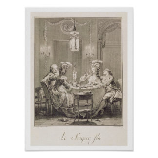 The Fine Supper, 1781, engraved by I.S. Helman (17 Poster