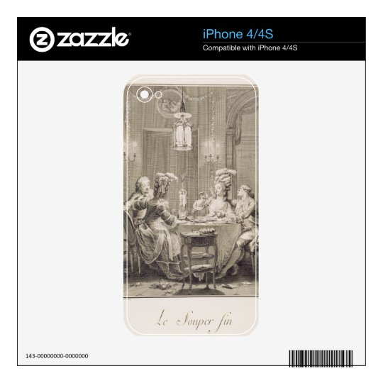 The Fine Supper, 1781, engraved by I.S. Helman (17 Skin For The iPhone 4S
