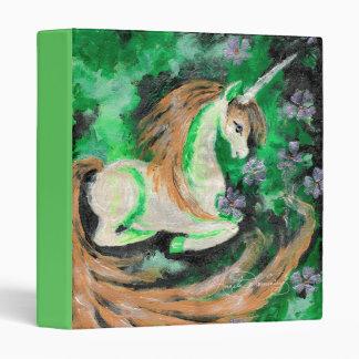 The Finger Painted Unicorn Vinyl Binder