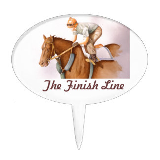 The Finish Line Cake Topper
