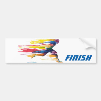 The Finish Motivational Bumper Sticker Car Bumper Sticker
