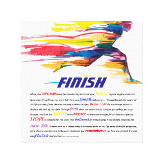 The Finish Motivational Poem Poster Canvas Print