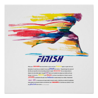 The Finish Motivational Poster