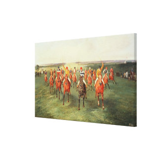 The Finish of the Two Thousand Guineas at Newmarke Canvas Print