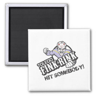 The Fink Rink 2 Inch Square Magnet