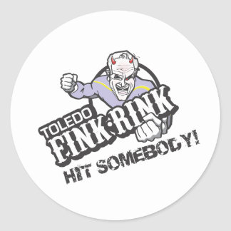 The Fink Rink Classic Round Sticker