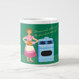 The Fire Alarm Means Supper Time Giant Coffee Mug